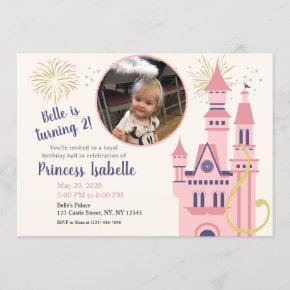 Rapunzel Photo Birthday Party Invitation