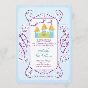 Rapunzel's Castle Birthday Invitation