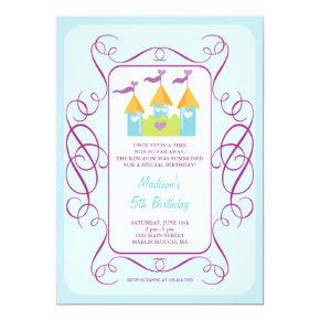 Rapunzel's Castle Birthday Invitations