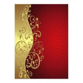 Red and Gold Multipurpose Invite