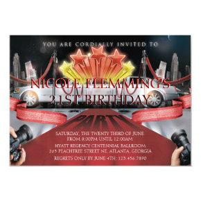 Red Carpet Birthday Invitation