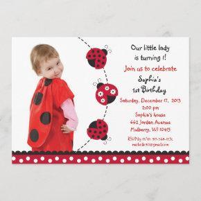 Red Ladybug Girls Photo Birthday