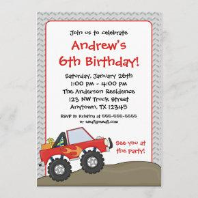 Red Monster Truck Birthday