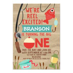 Reel Excited Fishing 1st Birthday Invitation