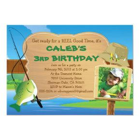 Reel Good Time - Fishing Themed Party Invitations