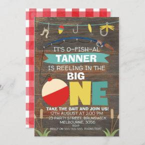 Reeling in the big one 1st Birthday Invitation