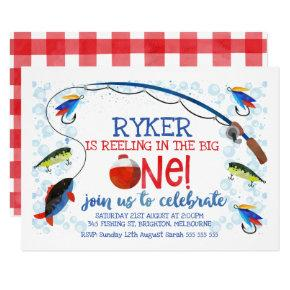 Reeling In The Big one birthday invitatation Invitation