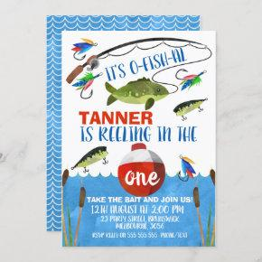 Reeling in the big one First Birthday Invitation