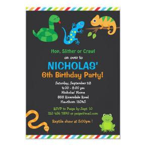 Snake Birthday Invitations Candied Clouds