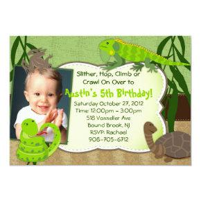 Lizard Birthday Invitations Candied Clouds