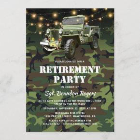Retirement Party | Military Soldier Camoflauge Invitation