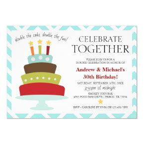 Retro Celebrate Together Birthday Cake | Birthday Invitation
