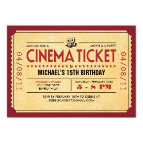 Retro Movie Ticket