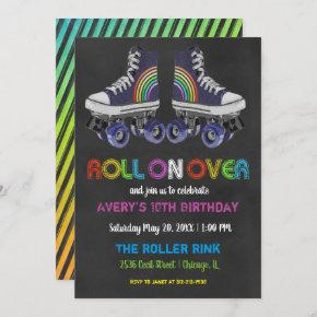 Retro Roller Skating Party Invitation