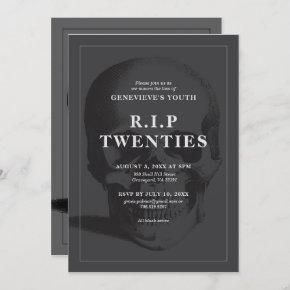 RIP 20's RIP Twenties RIP Youth Death Party Invitation