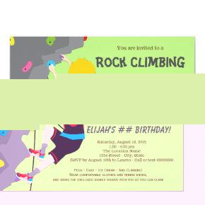 Rock Climbing Party Birthday Invitations Candied Clouds