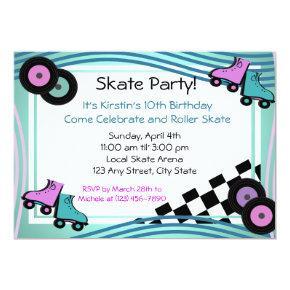 Rock N' Roller Skate Invitation