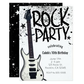 Rock Star Party Guitar Birthday Event