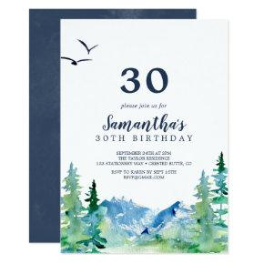 Rocky Mountain 30th Birthday Invitation