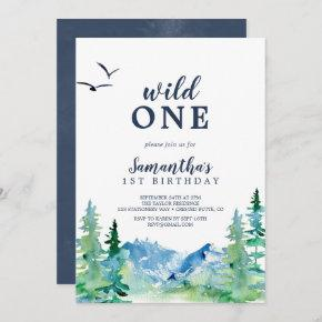 Rocky Mountain Wild One First Birthday Invitation