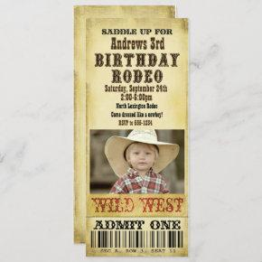 Rodeo Birthday Invitation