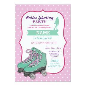 Roller Skating Birthday Party Roller Skate Invite