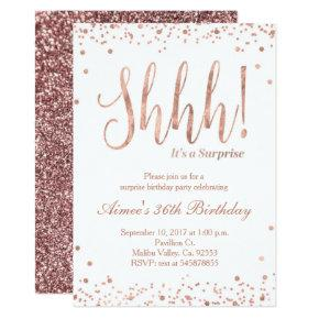 Rose Gold Birthday Celebration Invitation