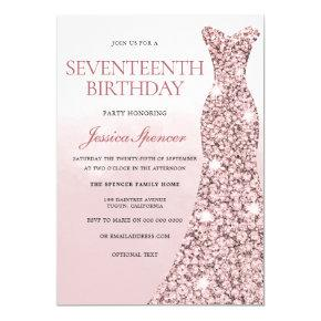 17th party for girls birthday invitations candied clouds