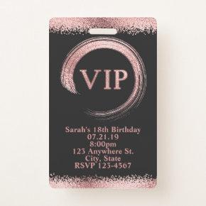 Rose Gold VIP Pass Badge