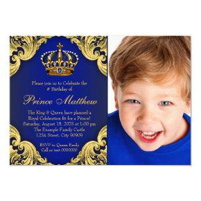 Royal Blue Gold Prince Birthday Party