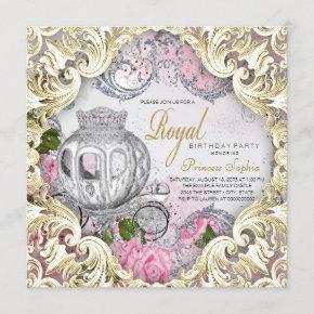 Royal Fairytale Princess Birthday Party Invitation