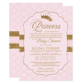 Royal Little Princess Blush Baby Shower Invitations