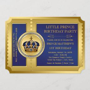Royal Prince Birthday Party Invitation