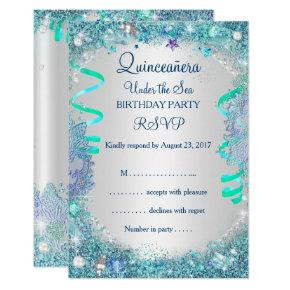 Rsvp blue under the sea quinceanera 15th birthday card candied clouds rsvp blue under the sea quinceanera 15th birthday invitation filmwisefo