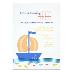 Rudders and Boats Invitation