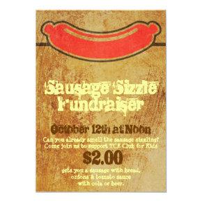 Rugged Sausage Sizzle Party Invitation