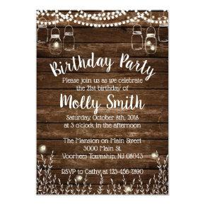 Rustic Birthday Party Invitations - Backyard BBQ