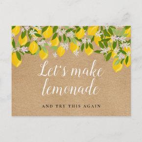 Rustic Lemons Change The Date Postponed Event Post