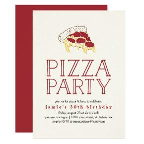 Rustic Pizza Party Invitation