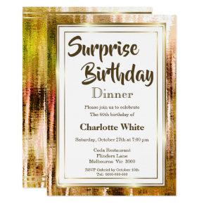 Rustic Surprise 60th Birthday Dinner Invitation
