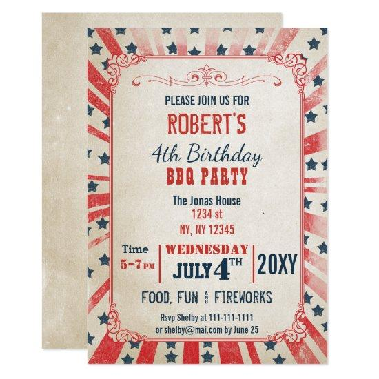 rustic vintage memorial day party invitation candied clouds