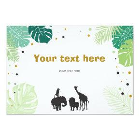 Safari Animals Jungle zoo Insert card Birthday