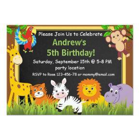 Safari birthday Invitations,jungle Invitations