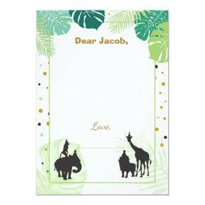 Safari Birthday Time Capsule Boy insert card Zoo