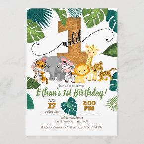 Safari Invitation for 1st Birthday
