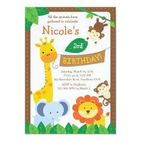 Safari Invitation / Jungle Invitation / Zoo Invite