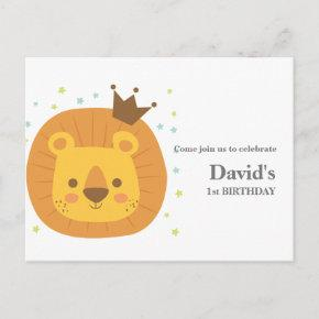 safari lion jungle lion, animal illustration invitation post