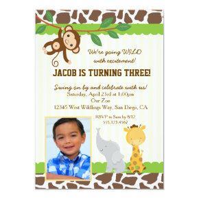 Safari Photo birthday party Invitation