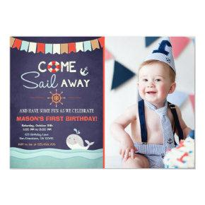 Sailor Birthday Invation Come Sail Away Nautical Invitations