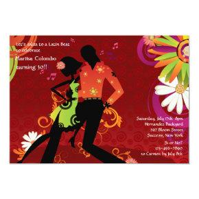 Salsa Dancing Party Invitation